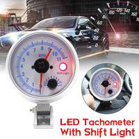 3.5Inch 80mm Car LED Tachometer Gauge with Shift Warning Light DC12V Universal Auto Tachometers Stepper Motor 0 11000 RPM