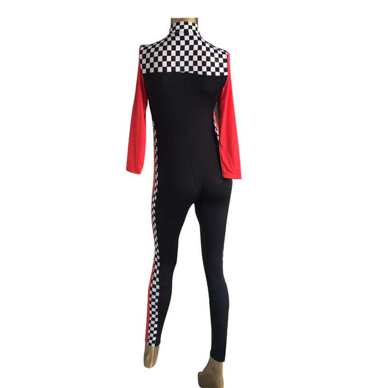 390a5e57860 ... Women s Sexy Race Car Driver Costume Racing Girl Jumpsuit Uniform Long  Sleeves ...