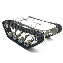 Domibot DIY Self-assembled RC Robot Tank Car Chassis With Crawler Kit Aluminium Alloy(China)