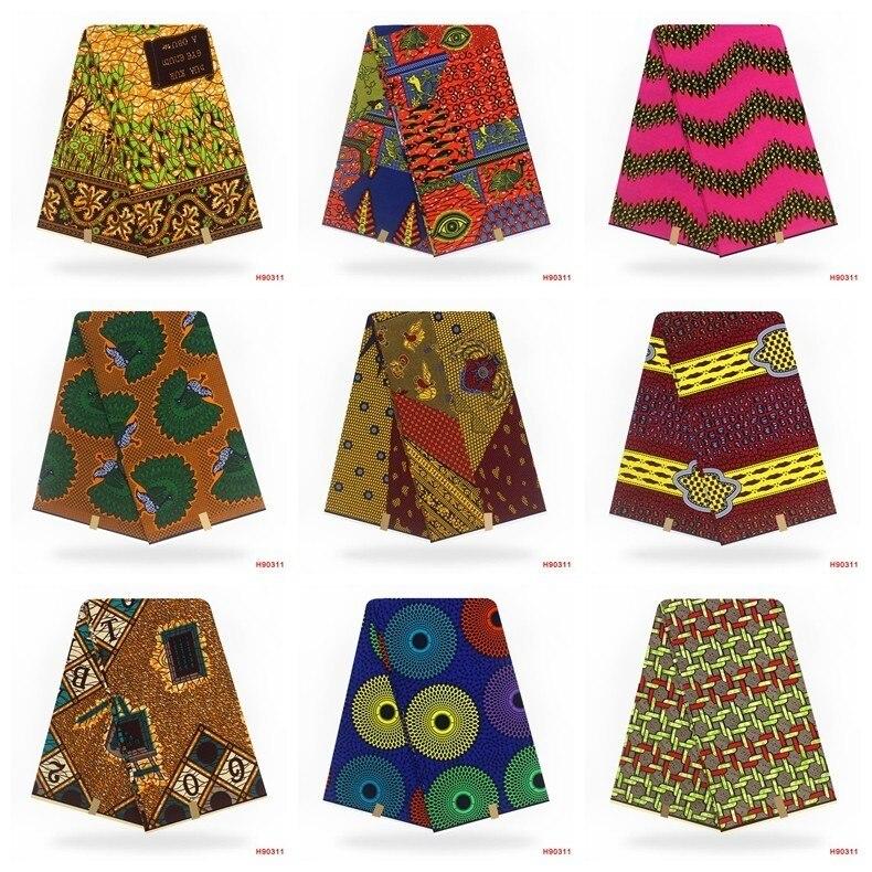 Image 4 - Verdadera cera nigeriana verdadera telas de encaje ASO EBI  africano algodón estampado verdadera cera de Ankara Pagne Africana cera  verdaderaTela