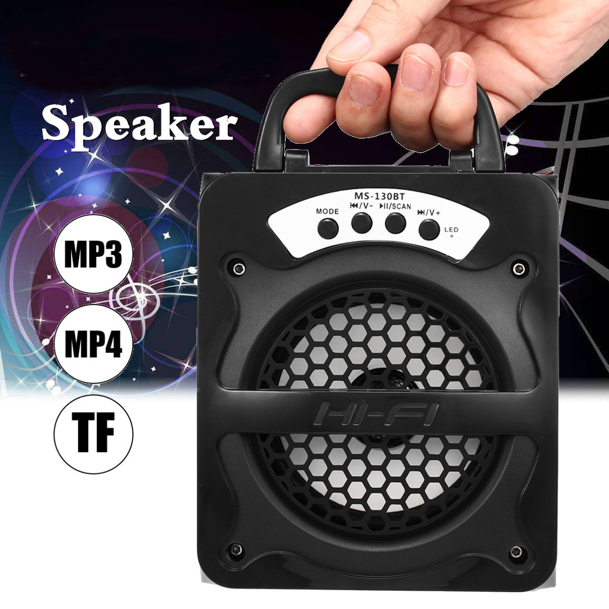 Super Bass Draagbare Bluetooth Speakers Subwoofer Draadloze Speaker Met Usb/tf/aux/fm Radio Party Bar Muziek Speler Outdoor