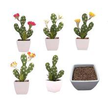 31606a92b DIY creativo simulación de la planta verde tres orejas Cactus suculentas en  maceta sin Pot escritorio