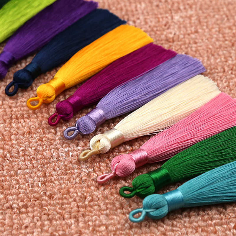 Hot 1PC  Handmade for Bookmark Long Silk Tassel DIY 8cm High Quality Crafts
