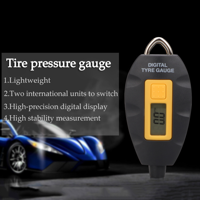 Image 2 - LED Backlight Wheel Tire Tyre Air Pressure Gauge Tester Digital Auto Meter Tool Vehicle Motorcycle Car 3 100 PSI KPA BAR-in Tire Pressure Alarm from Automobiles & Motorcycles