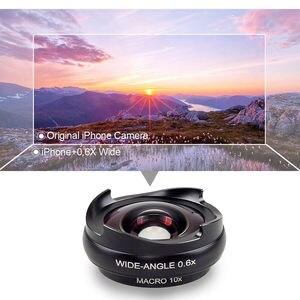 Image 4 - Apexel Pro Optic Smartphone Kamera Objektiv Kit 4K Hd 0.6X Weitwinkel + 10X Makro 2 In 1 Objektiv für Iphone Xiaomi Samsung Keine Dunkle Circ