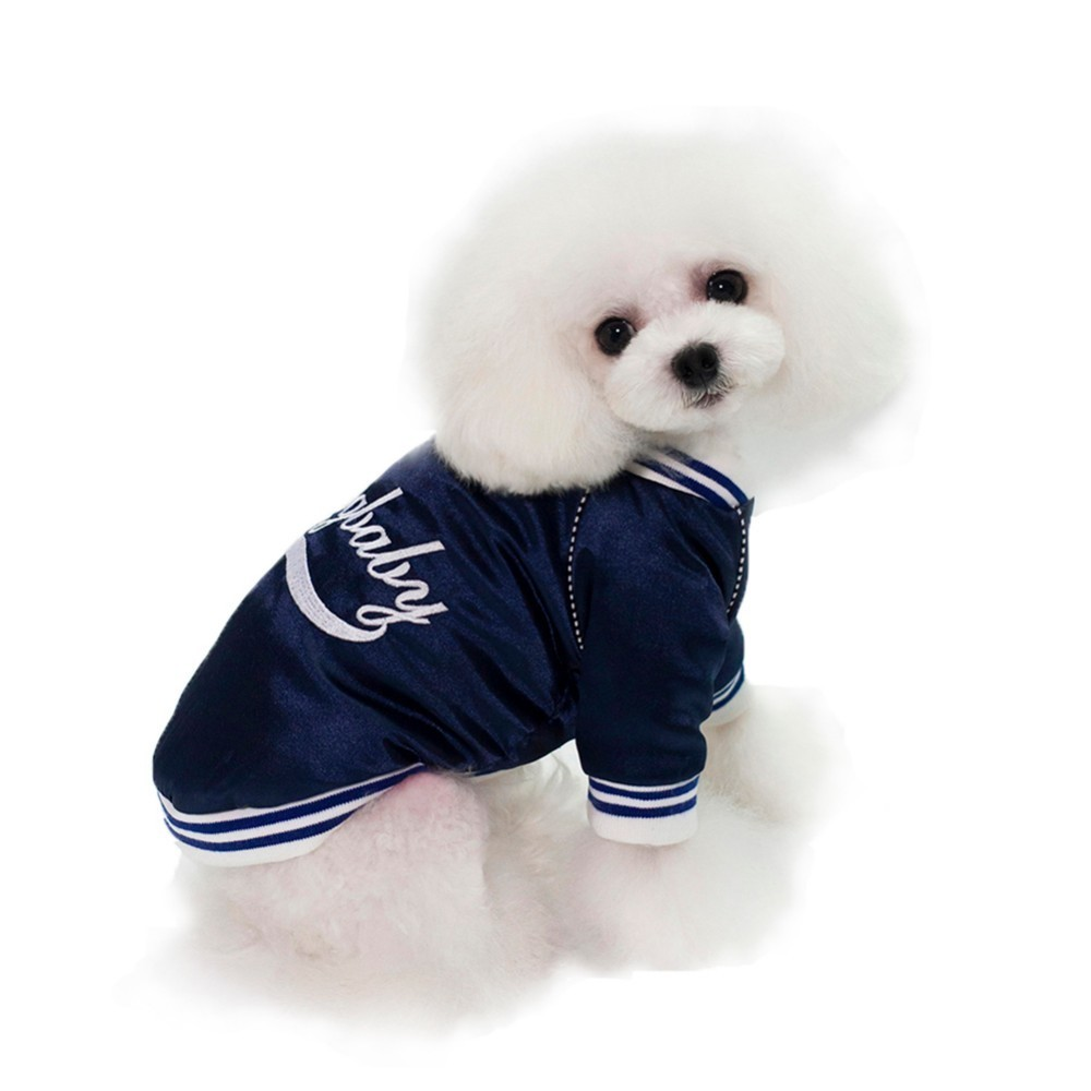 Soft Pet Sweatshirt Winter Dog Coat Jackets Baseball Uniform Puppy Jersey Clothing For Dogs Sport Dog Clothes 13465