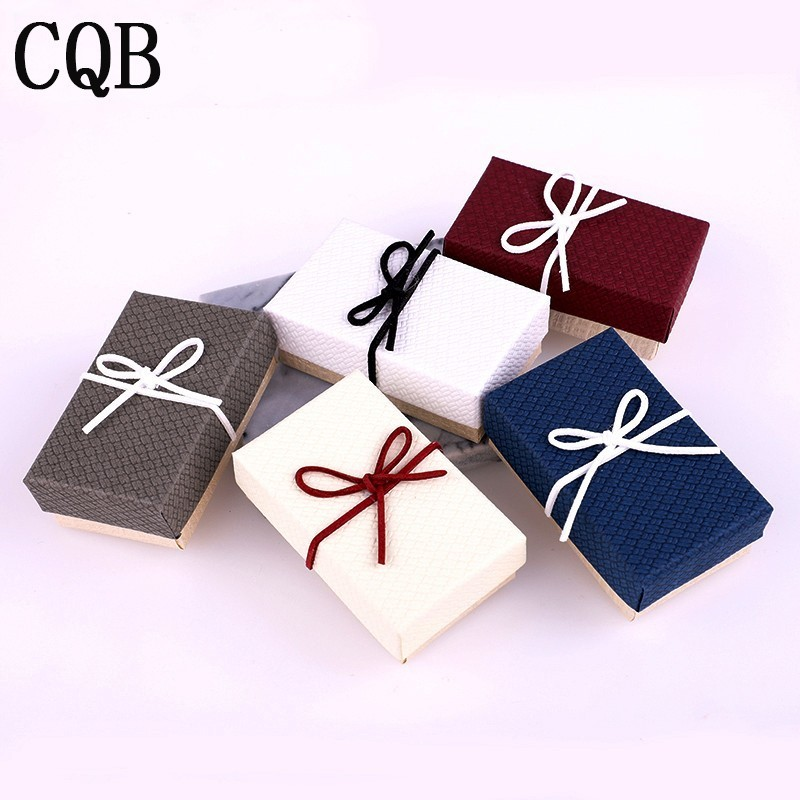 Bow Jewelry Earrings Necklace Ring Wedding Gift Box Jewelry Tray Lots Of Makeup Jewelry Tray Brand Valentine's Day Gift