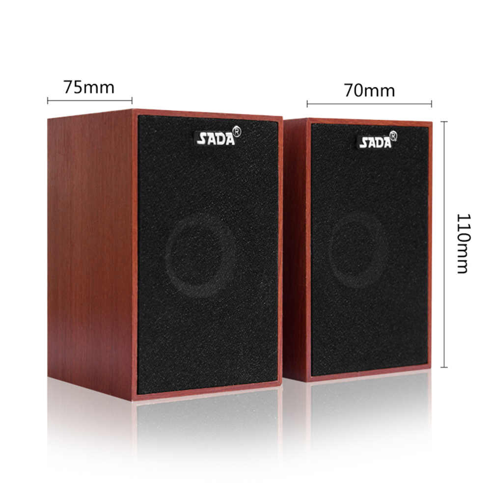 SADA V-160 USB Проводные мини компьютерные колонки бас стерео Деревянный ПК динамик Саундбар 3,5 мм AUX для ноутбуков настольных смартфонов