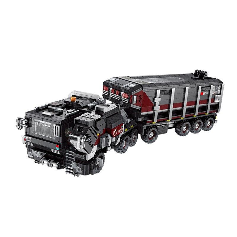 628001 2105 pièces série militaire noir technologie terre transporteur camion modèle Kits de construction blocs briques compatibles jouets cadeau