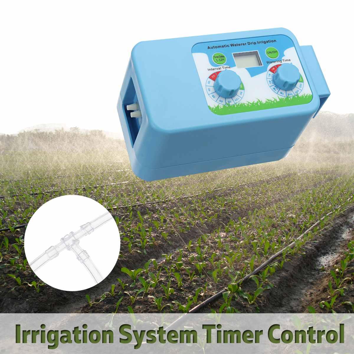 Irrigação Por Gotejamento automático Sistema de Rega Temporizador de Intervalo Jardim Controlador de LCD