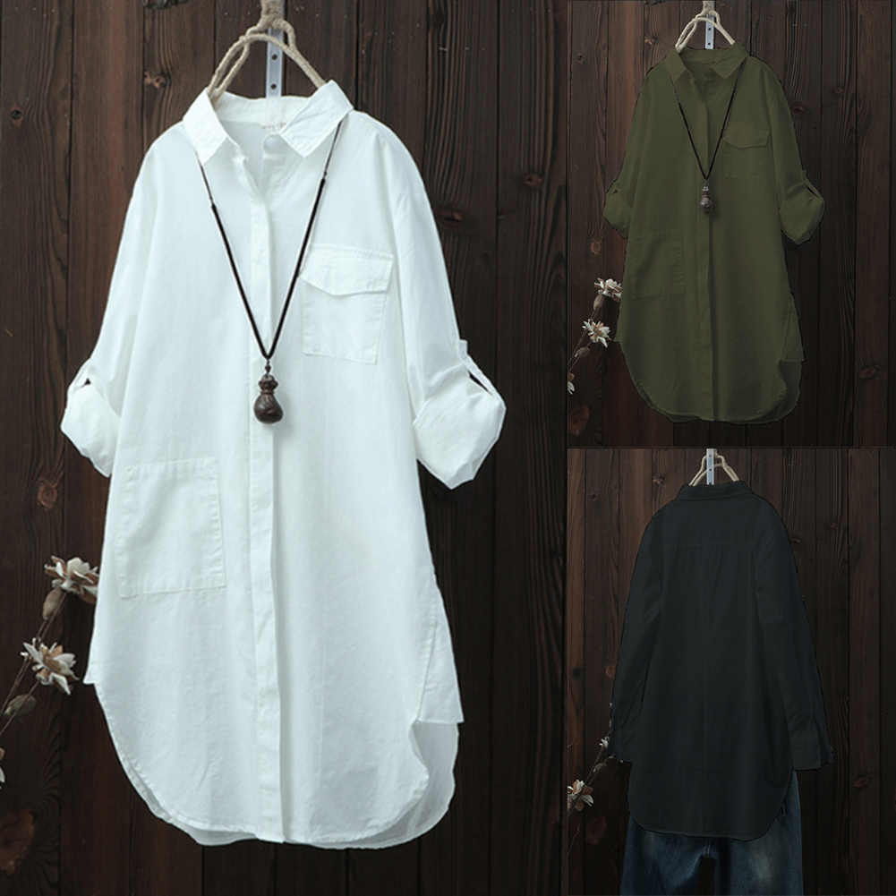 Women Oversized Long Sleeve Tops Shirt Casual Loose Boyfriend white blouse shirt office lady shirts for women