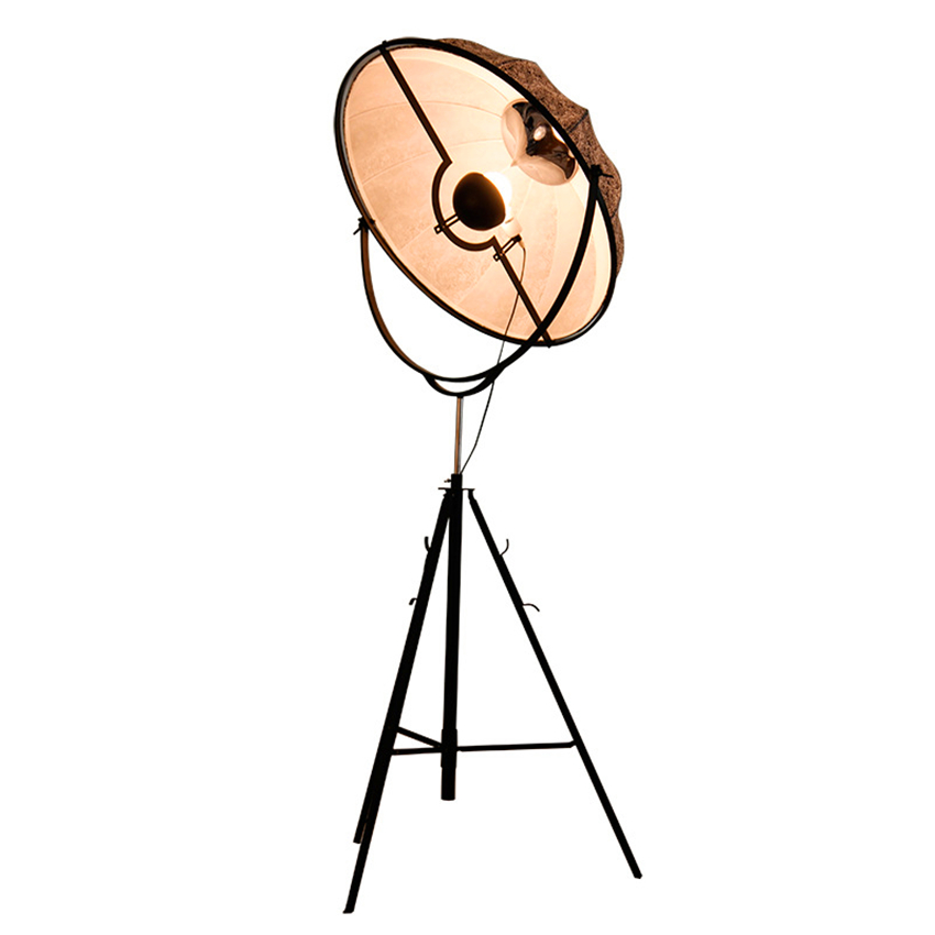 Nordic LOFT Floor Lamps Classic LED Floor Light Photography Light Adjustable Satellite Shape Photo Studio Living Room Lamp Stand in Floor Lamps from Lights Lighting