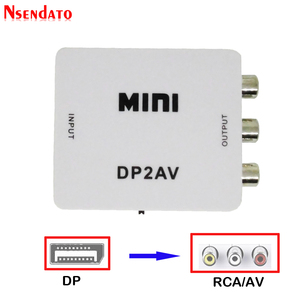 1080P Мини DP видео конвертер коробка дисплей Порт DP к RCA DP2AV AV/CVSB L/R видео переключатель DP к AV коммутатор адаптер для ТВ ПК