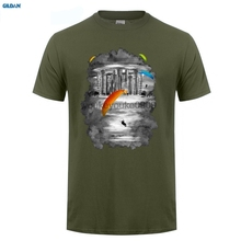 GILDAN  Paragliders summer short sleeves cotton T-shirt Fashion men and man t shirt free shipping