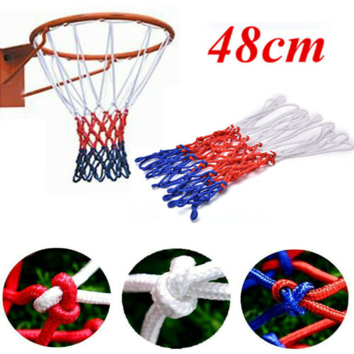 Outdoor Standard Basketball Hoop Net Durable Nylon Thread Netball Rim Mesh Nets Basketballs Sports Entertainment