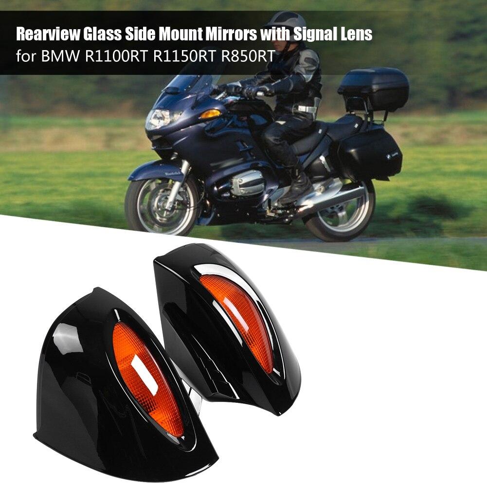 1 paire rétroviseurs latéraux en verre avec lentille de Signal universelle pour BMW R1100RT R1150RT R850RT nouveau