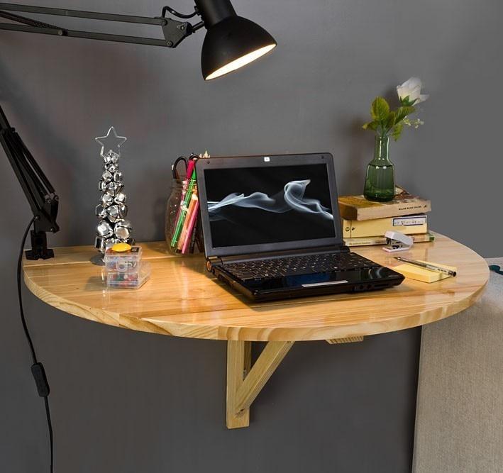SoBuy FWT10 N Wood Half round Folding Wall mounted Drop leaf Dining Table Desk Workstation