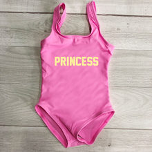 PRINCESS Letter Print Girls Swimwear Child One Piece Swimsuit Baby Monokini Red Pink Black Summer Beach Wear Kids Bathing Suit(China)