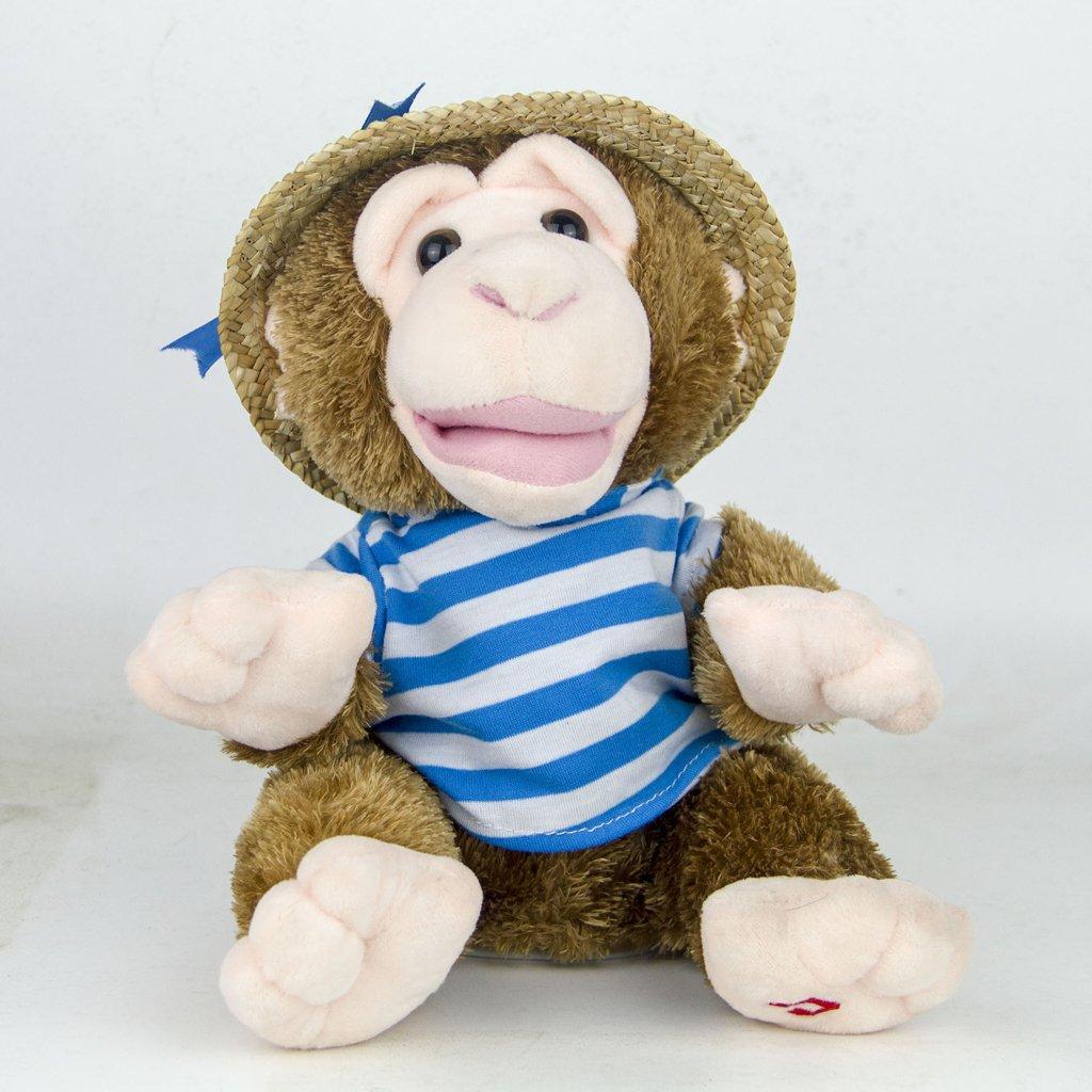 22cm Plush Monkey Doll Sing Swing Arm Home Decoration Educational Toys Birthday Gift for Baby Children Kids Toddler