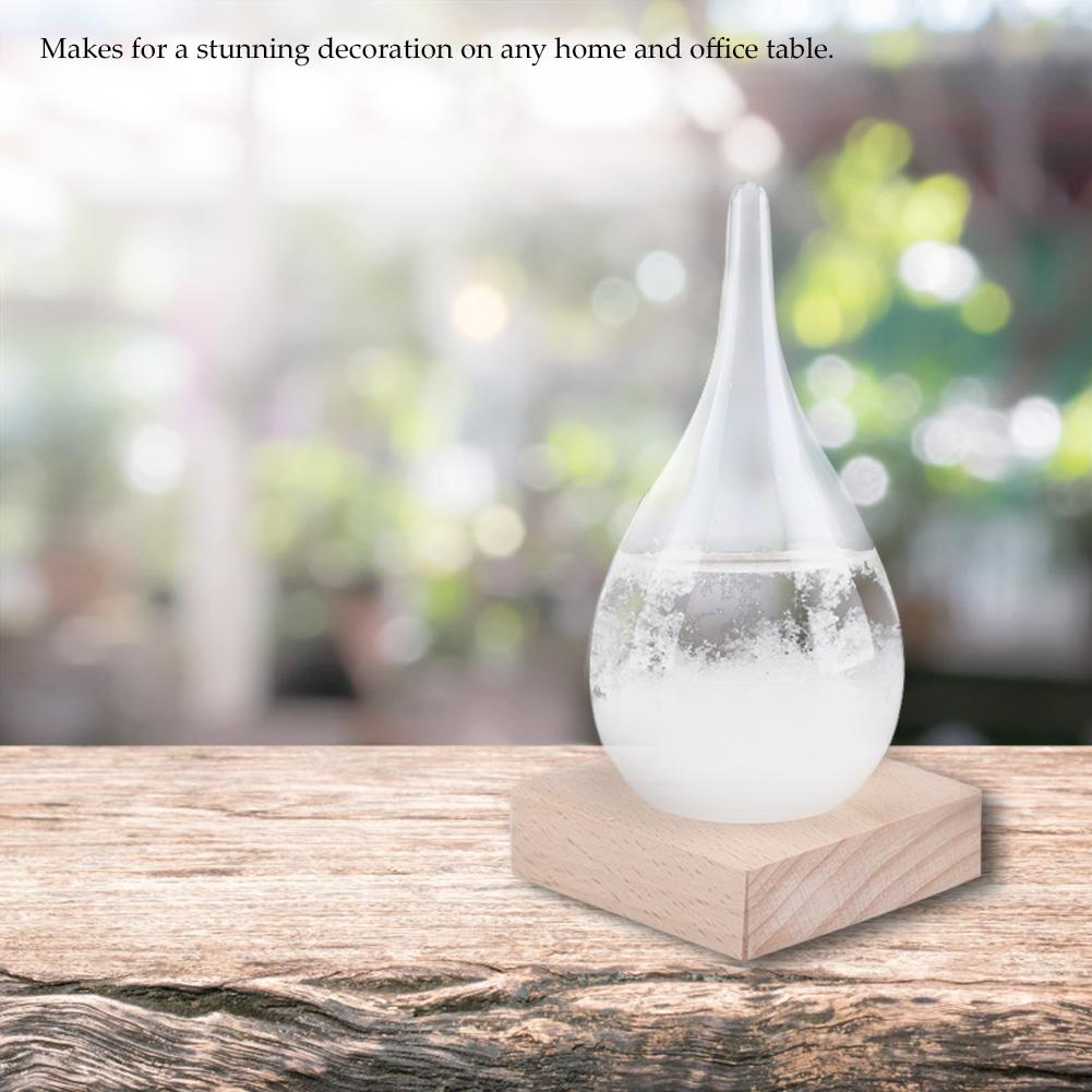Wood Wooden Base Home Decor Ornaments Convenient Weather Forecast Bottle Base
