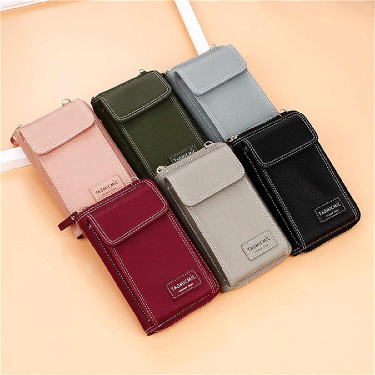 Aequeen senhoras sólido bolsa de embreagem de couro do falso pequeno saco crossbody para as bolsas femininas 4 slot para cartão saco de telefone verde rosa mini