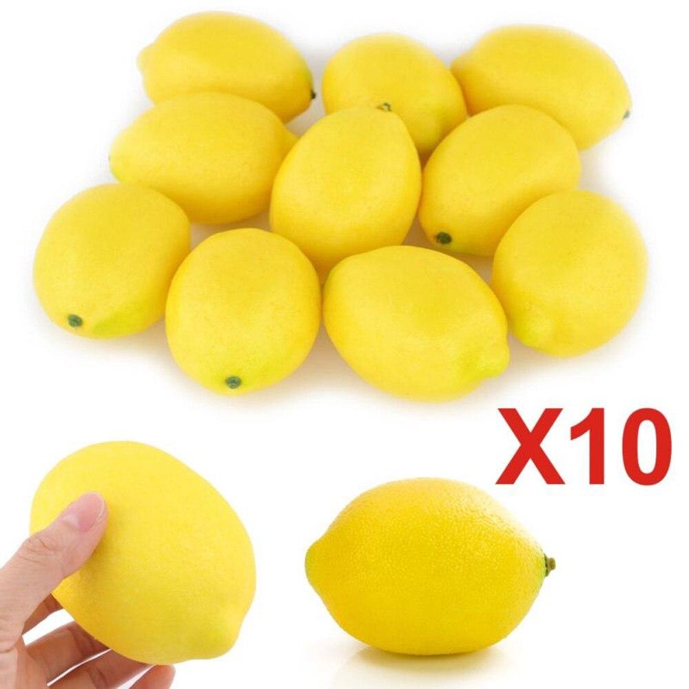 6/10 PCS Bubble simulation Fake Lemon fruits Artificial Vegetables fruit Model House Kitchen Party Home Decoration fruit