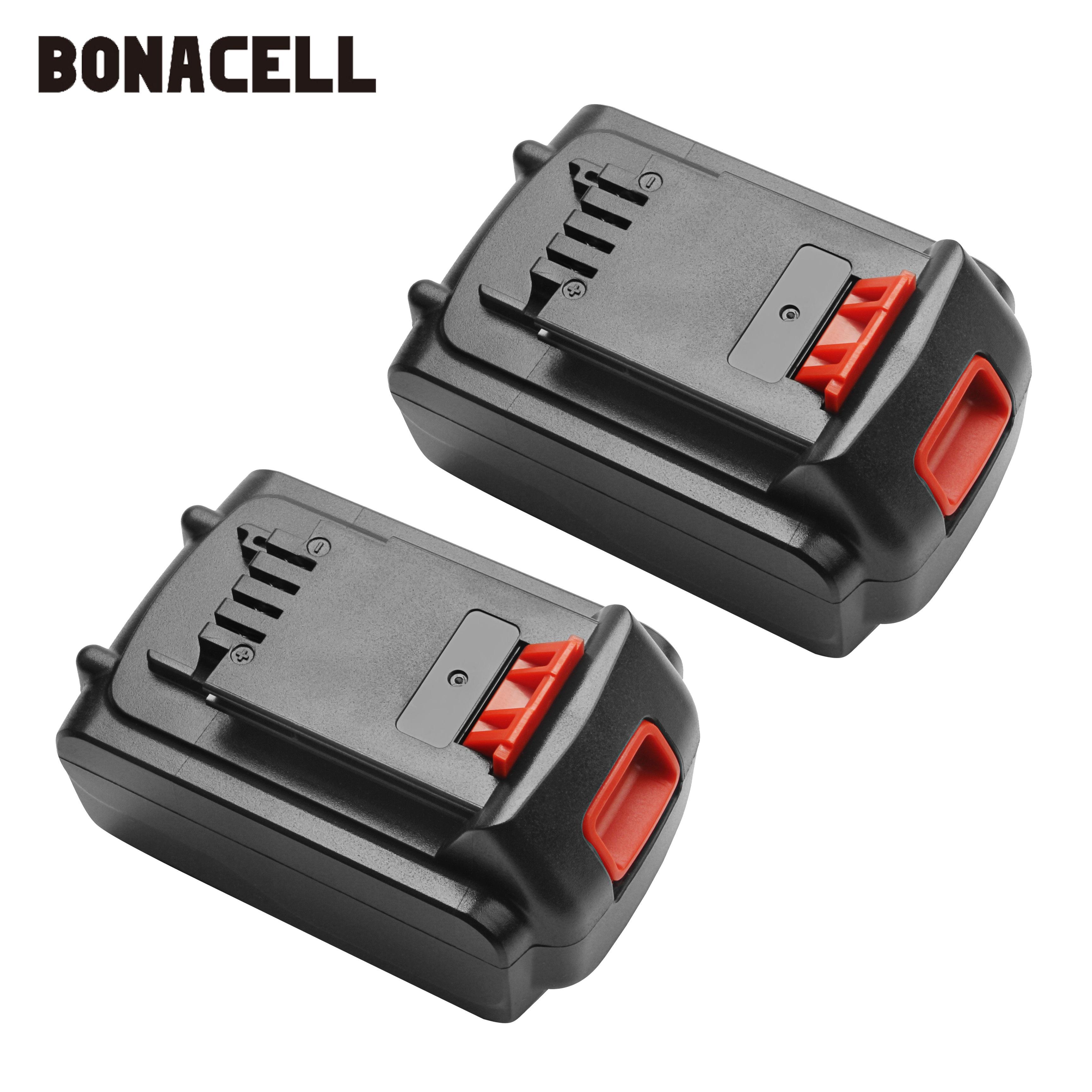 Bonacell 18V/20V 4500mAh Li-ion Rechargeable Battery Power Tool Replacement Battery For BLACK & DECKER LB20 LBX20 LBXR20 L10