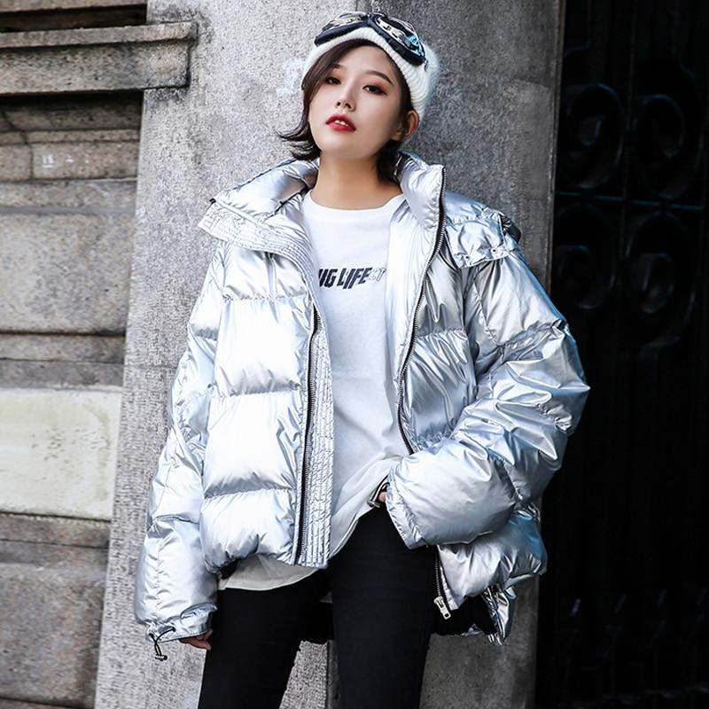 À Chaud Femmes Manteau Coton Épaissir Silver Coréen Rembourré Harajuku 2018 Capuche Casual Co025 Veste Parkas Argent Femme Hiver qFnOx7gAw