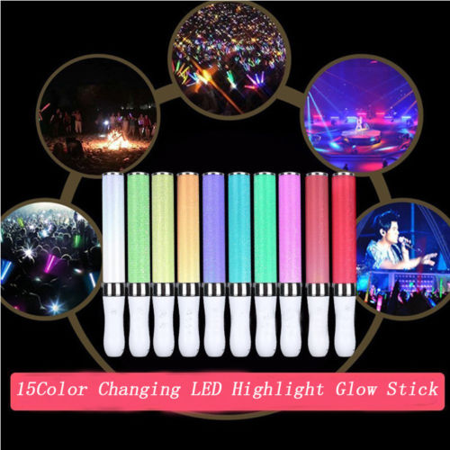 15 Colors LED Changing Highlight Glow Stick Outdoor Warning Light Stick