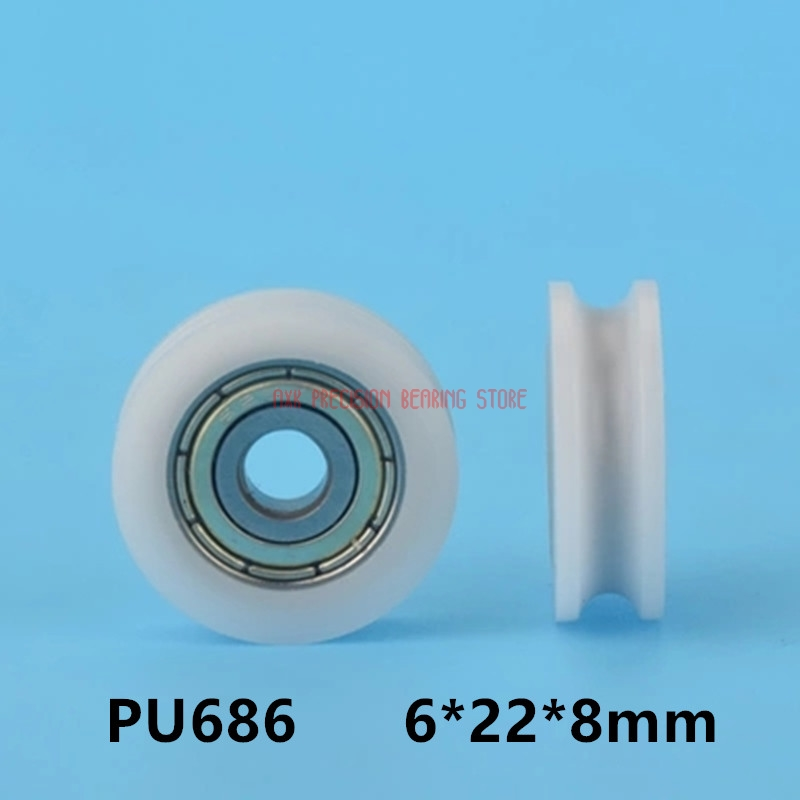2019 New Style 2019 Rushed Special Offer Plastic Nylon Bearing With U Grooves And 686 Inner Diameter 5mm 6*22*8mm Groove Injection Pulley Fixing Prices According To Quality Of Products