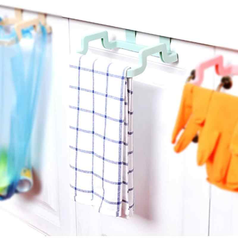 Multi-function Garbage Bag Hanging Holder 2019 ABS Plastic Cupboard Cabinets Towel Storage Rack Garbage Bag Holder Kitchen Tool