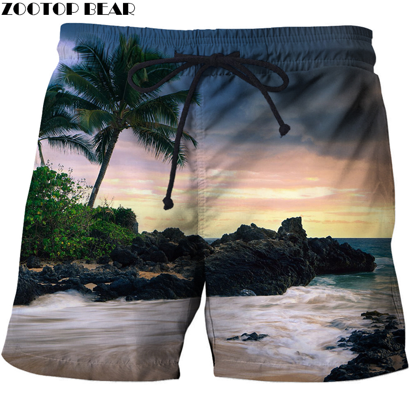 Summer Men T Short Homme Loose New 3d Print Surf Sports Beach Bodybuilding Breathable Male Clothing Loose Shorts Quick Dry Pan