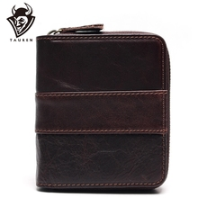 Genuine Leather Wallets Men Wallets Clutch Fashion Short Coin Purse Vintage Wallet Cowhide Leather Card Holder Coin Bag fashion women genuine leather red black bag cowhide wallet card money holder clutch purse long short purple original wallets
