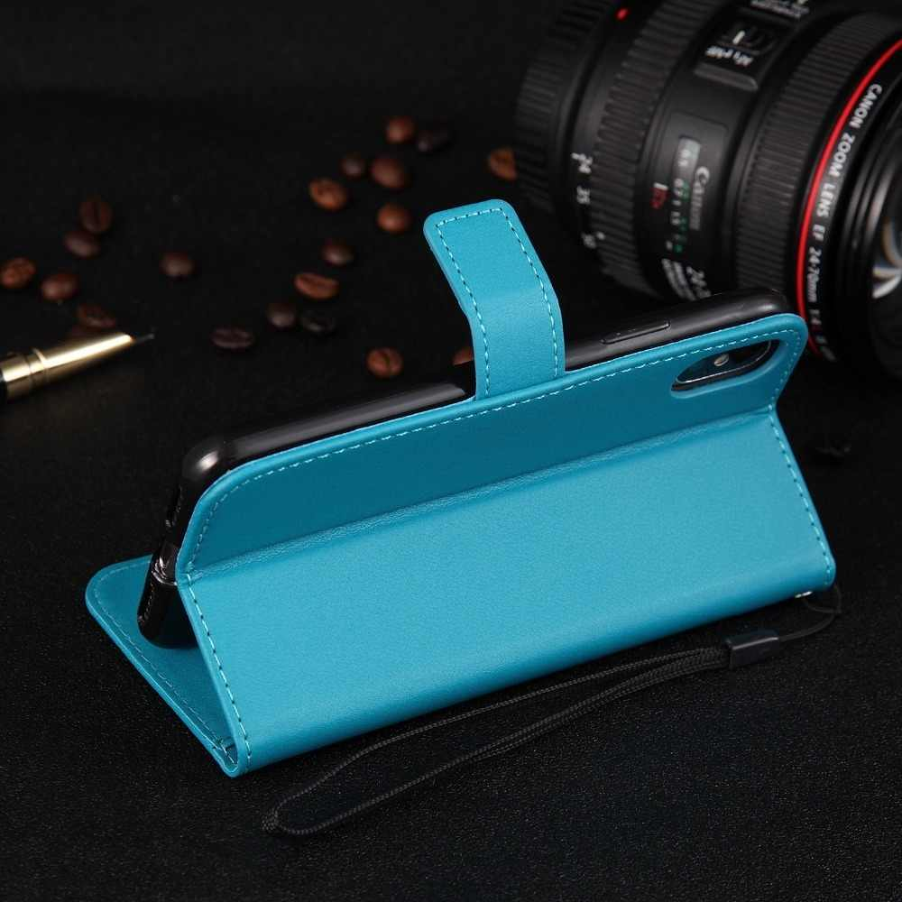 Case Leather Flip Wallet Cover for Huawei Honor 8 10 Lite  6C 6X 5X Y6 Y5 Y3 II Y3II Y5II 2017 P Smart Plus 2019 P20 P30 Coque