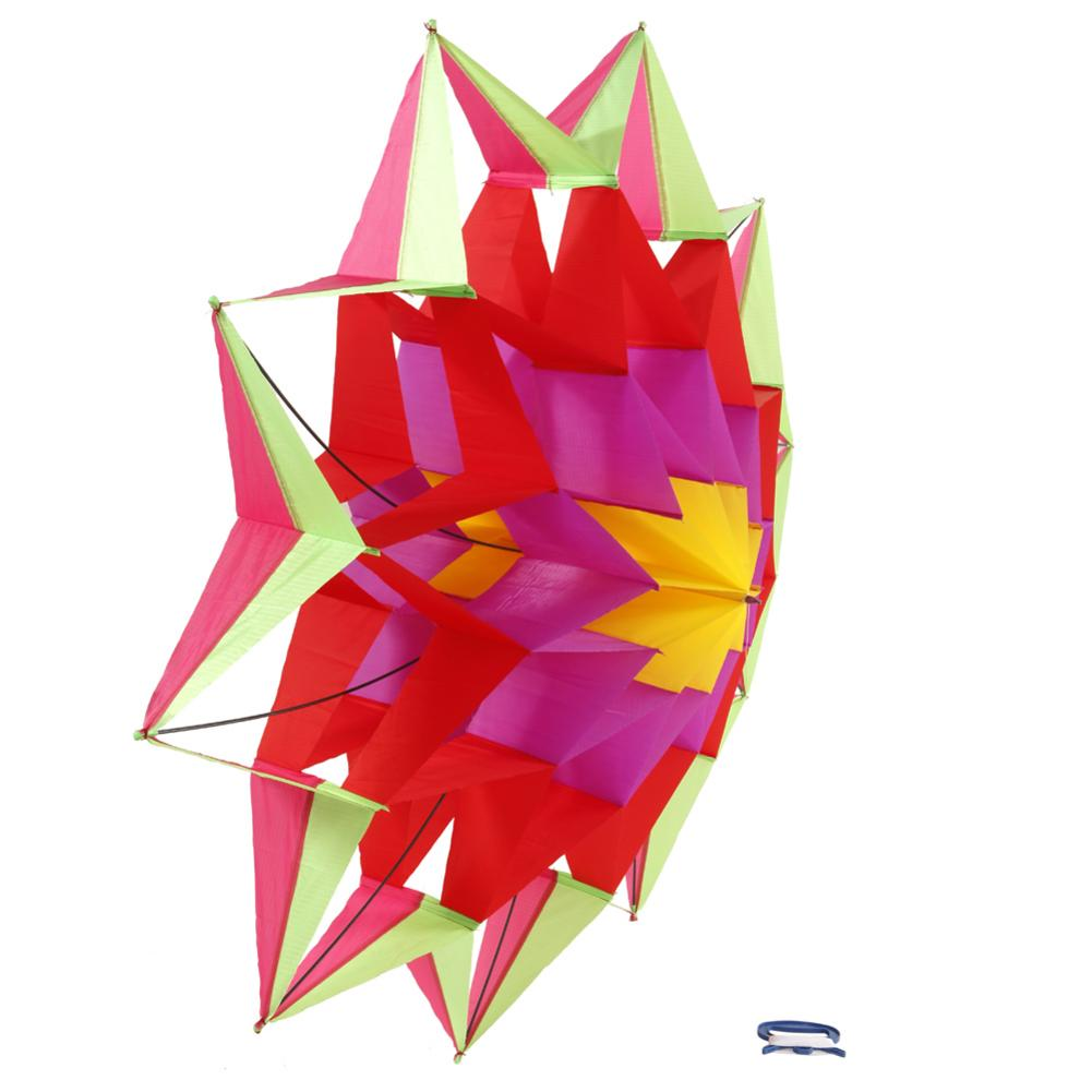 3D Lotus Flower Kite Single Line Outdoor Toy Flying For Kids Sport Spring Outdoor Activity Parent-child Game Easy To Fly image