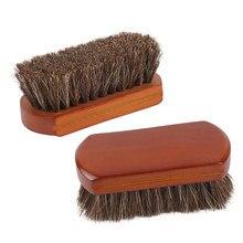 Ahşap saplı araba fırçaları iç detaylandırma iç deri fırça