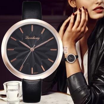 2020 Woman Watch Casual Faux Leather Quartz Wristwatch Bracelet Reloj Mujer Relogio Feminino Montre Women Watches Zegarek Damski