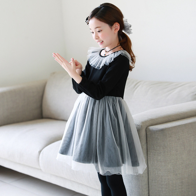 f861c73ada47 4 15Y Casual Girl Dress Spring Winter Children Party Dresses For ...
