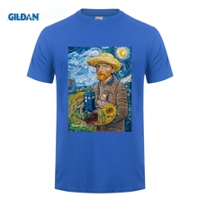 GILDAN novelties Van Gogh T Shirt Men Boy Screen Printing Custom Short Sleeve Boyfriends XXXL Couple Tshirts