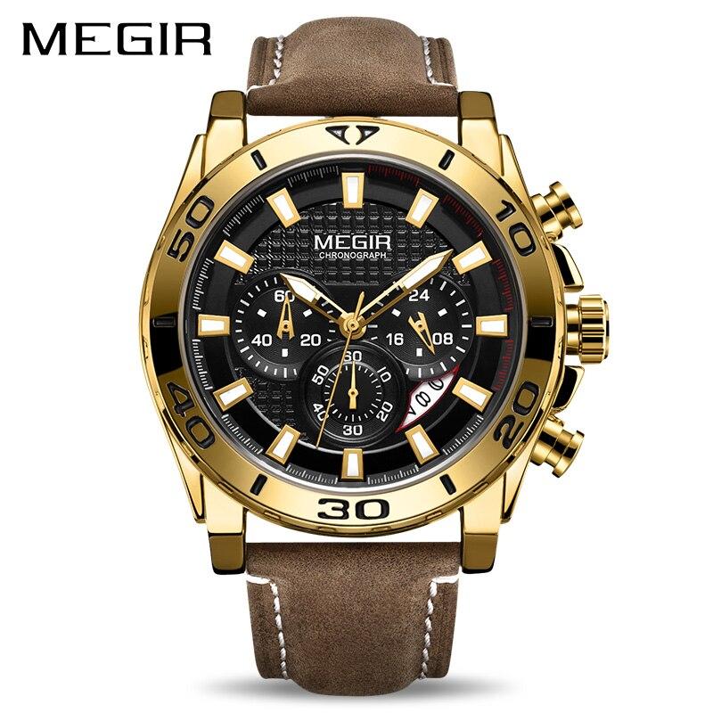 Relojes 2019 MEGIR Watch Men Fashion Sport Quartz Clock Mens Watches Top Brand Luxury Waterproof Watch