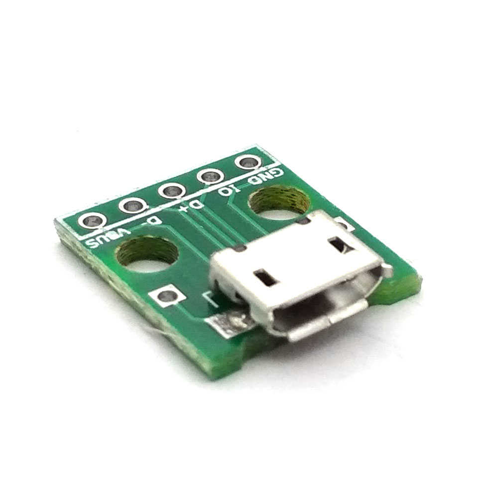 Micro USB Tourner Dip Interface Siège 5V Alimentation Carte Convertisseur