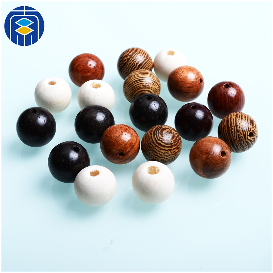 Fashion Wooden Beads 6/8/10/12mm Wenge Round Loose Wood Beads for Jewelry Making Bracelet Necklace Accessories