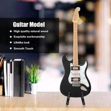 TOPINCN Exquisite Wooden Mini Guitar Model Display Decoration Crafts Home Coffee House Ornament Guitar Model(China)