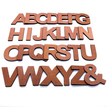 9cm/3.54 PVC Copper Uppercase English Letters Interior Wall Garden Wedding Decorative Alphabet Environmentally Friendly