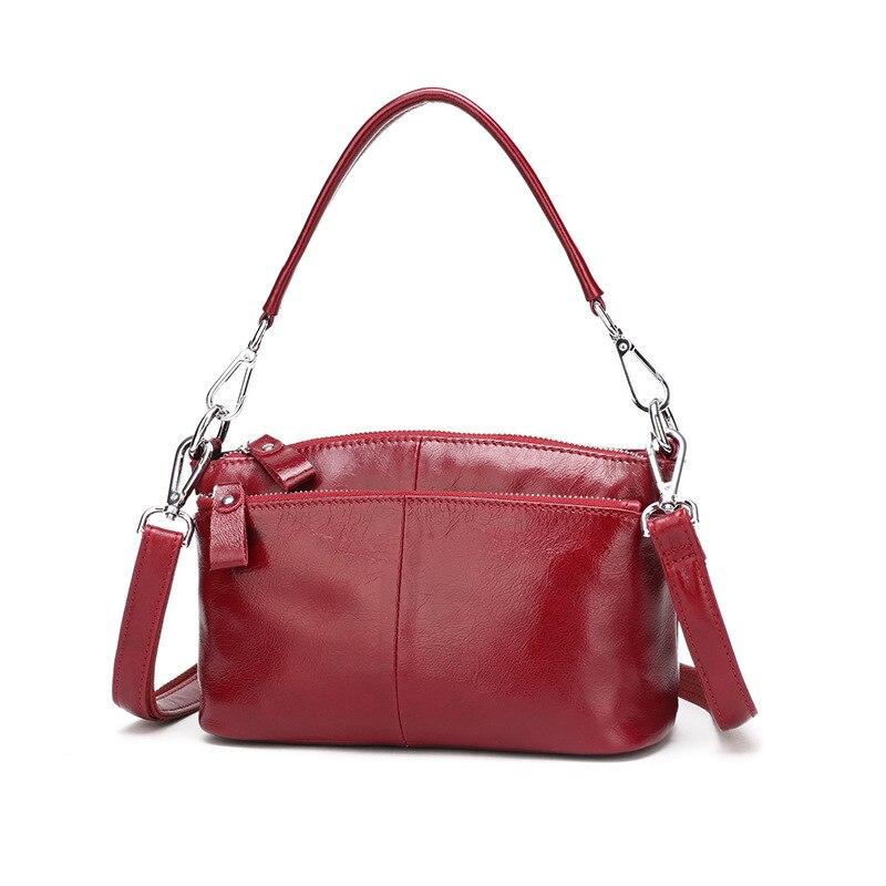 Fashion Genuine Leather Handbags Women Wax Oil Bag Shoulder Bags Female Bag Women Luxury Leather Bolsas Feminina Bag Women