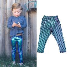 Girls tights baby girls clothes baby tights children tight mermaid shiny fish scales 2019 fashion girls pants stretch trousers