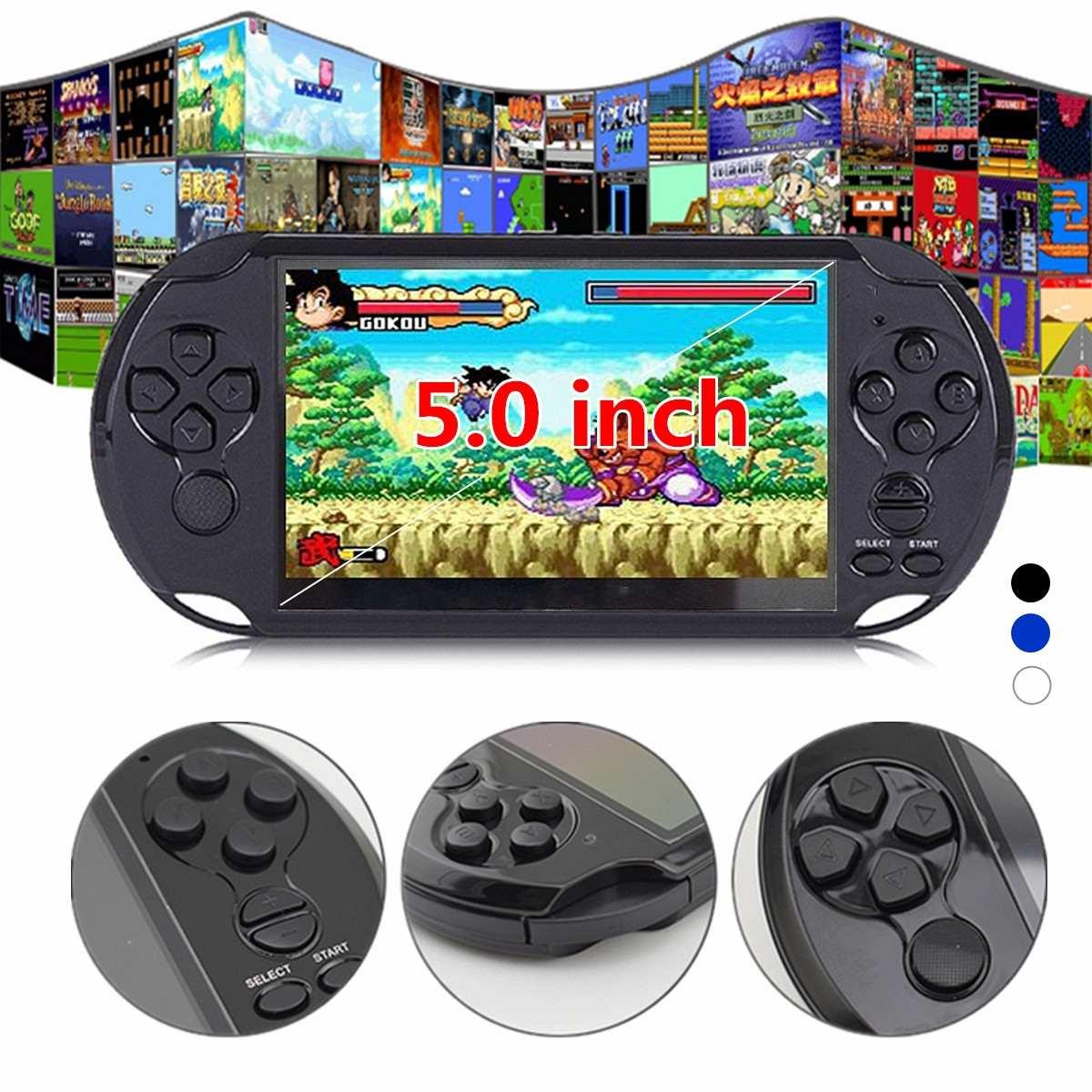 32/64 Peu X9 Rechargeable 5.0 pouces 8G De Poche Rétro Jeu Console Vidéo MP3 Lecteur Caméra DV Tir Multi- langues Net