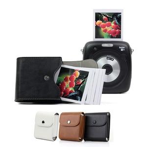 Image 4 - Fujifilm Instax Mini 8 9 Case Retro Leather Button Pouch Photo Case SQ10 SQ6 SQ20 x10 Fujifilm Mini 25 For Storage Camera Bag