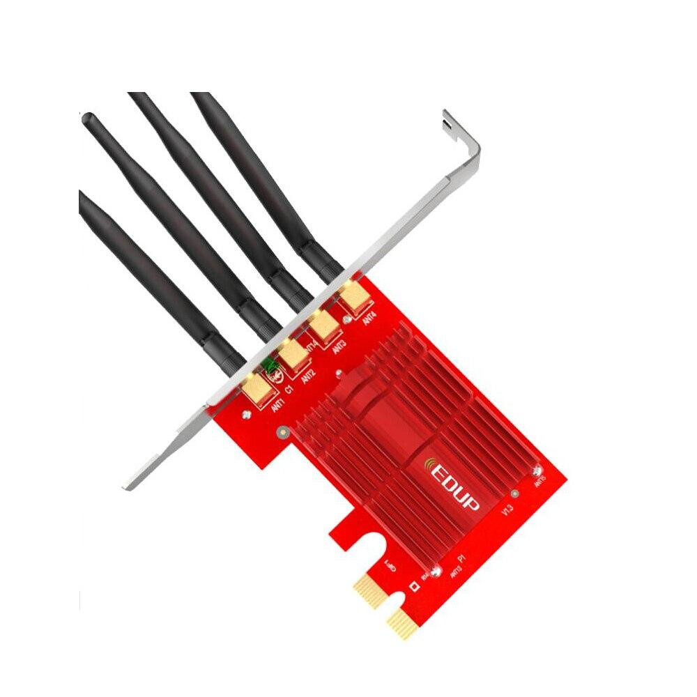 EDUP 2.4/5 Ghz double bande 1900 Mbps PCI Express adaptateur WiFi sans fil 802.11AC carte réseau PCI-E antennes 4 * 5dBi pour Win 7/8. 1/10 - 6