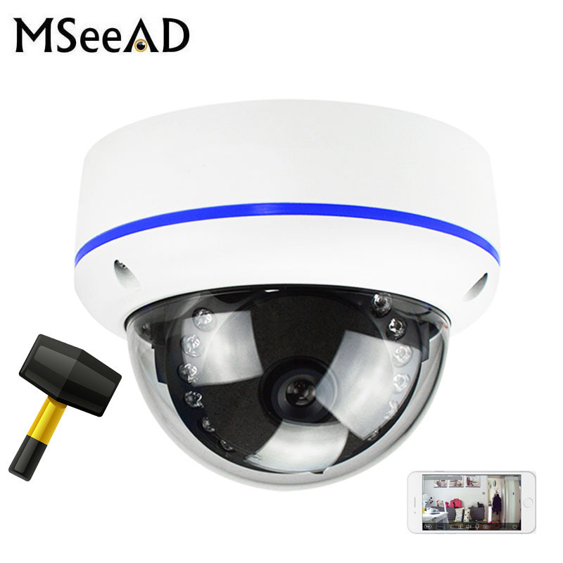 Vandalproof H265/H264 48V POE Camera 1080P 3MP 5MP Onvif P2P Motion Detect RTSP Email Alert Metal POE Dome Camera CCTV Vandalproof H265/H264 48V POE Camera 1080P 3MP 5MP Onvif P2P Motion Detect RTSP Email Alert Metal POE Dome Camera CCTV